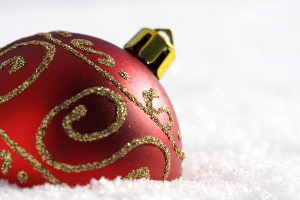 boule de noel neige