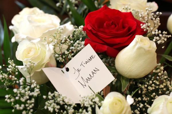 bouquet de rose je t aime maman